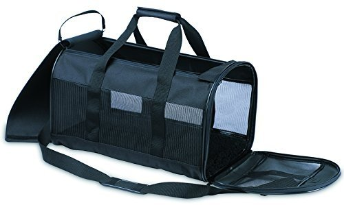 (20 X 11.5 X 12, Black) Petmate Soft-Sided Kennel Cab Pet Carrier