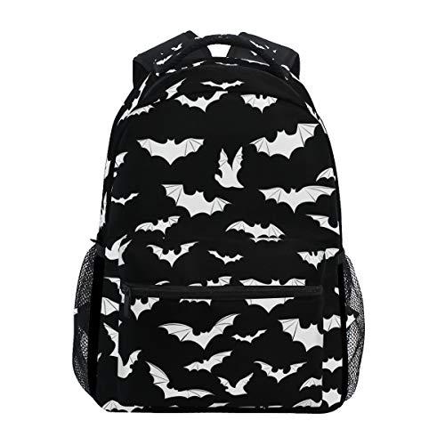 Stylish Bats Halloween Goth Backpack- Lightweight School College Travel Bags, ChunBB 16