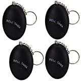 WER Personal Alarm 120 dB Emergency Personal Safety Defense Keychain Security Alarm Wrist Alarm for Elderly Kids Women Adventurer Night Workers Anti-theft Alarm Policeman Recommend(Black,4 pack)