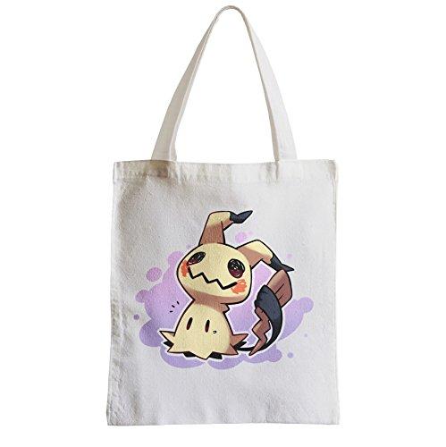 Große Tasche Sack Einkaufsbummel Strand Schüler Pokemon Pikachu mimikyu Aussenseiter-Videospiele