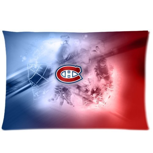 personalized Home Bedding Pillowcase Canadiens de Montreal Club Team Logo One Side Rectangle Pillowcases Standard Size 20x30-4 (Montreal Bedding)