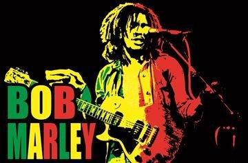 Bob Marley Blacklight Poster - Flocked - Rare - 35