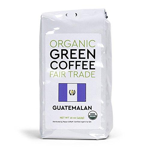 Peace Coffee Fair Trade Certified Organic Green Unroasted Coffee Beans for Home Coffee Roasting (Guatemalan Fair Trade Organic)