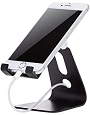 AmazonBasics Adjustable Cell Phone Desk Stand for iPhone and Android, Black