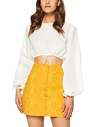 THIRD FORM Women's Straight Out Blouse, White, Small