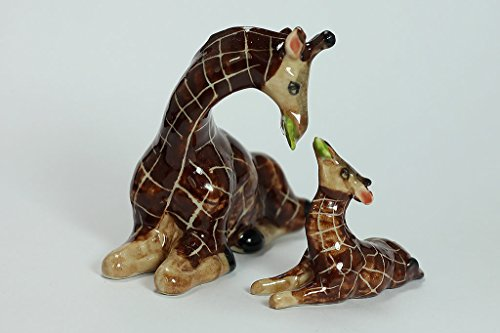 Giraffe Figurine (2 Pcs.)miniature Hand Painted