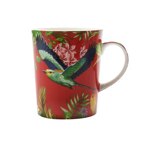 Maxwell and Williams Cashmere Birds of Paradise Mug Cup RED 330ml 11.15fl oz