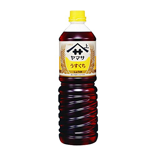 Yamasa Usukuchi Shoyu - Light Color Japanese Soy Sauce, 1 Liter/34 ounce, Imported from Japan