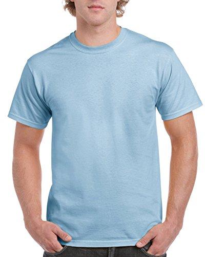 Gildan Men's Ultra Cotton Tee, Light Blue, Medium