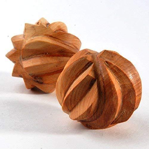 Juniper Tactile Ribbed Balls. Organic Wooden Baby Toys