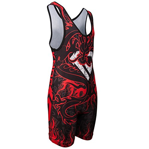 Sublimated Tights (KO Sports Gear RED DRAGON Wrestling Singlet)