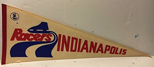 (Vintage 1970's Indianapolis Racers Full Size Pennant WHA)