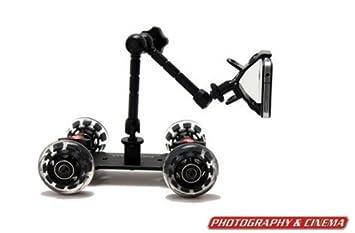 EPhotoInc PICOKIT Pico Flex Dolly Kit Digital DSLR Skater Camera Dolly Slider  Table Top Dolly Kit