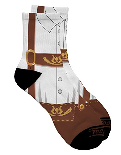 TooLoud Lederhosen Costume Brown Adult Short Socks Mens sz. 9-13 All Over Print