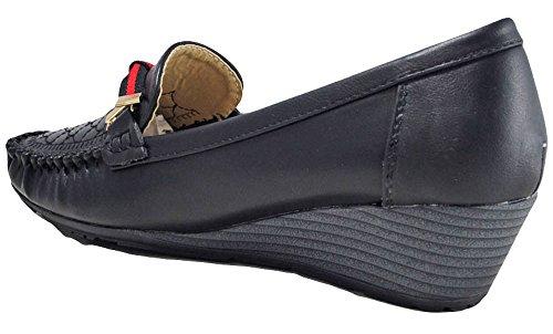 Ladies Low Mid High Heels Platforms Wedges Womens Pumps Work Court Shoes Black dxlfeh4ubJ