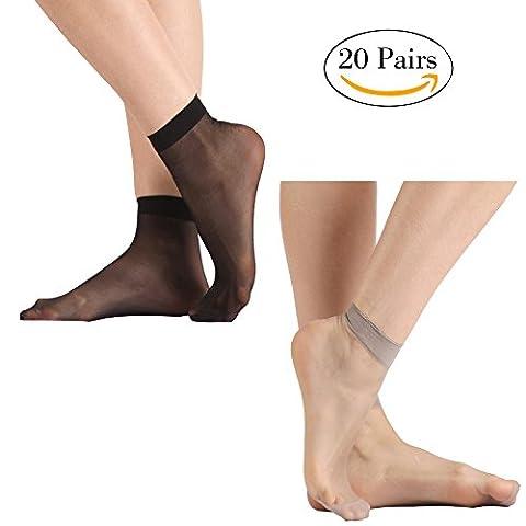 Tight Socks, INCHER Women's Ankle High Stockings Ankles For Women Hosiery Silk Short Socks Casual Cushion Ankle Socks 20 (Ankle High Hose)
