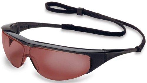 Uvex 11150368 Millennia Safety Eyewear, Black Frame, SCT-Gray Ultra-Dura Hardcoat Lens ()