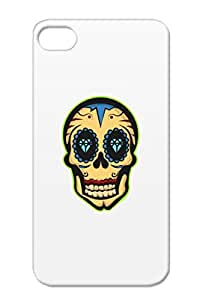 TPU Black Protective Case For Iphone 4/4s Mexican Skull Mythology Tradition Mexican Dead Spirituality Mythology Religion Skull Philosophy