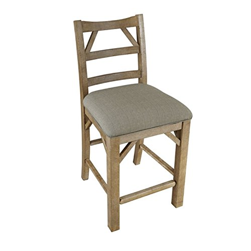 A-America West Valley Ladderback Side Chair with Upholstered Seat – 2 Chairs, Rustic Wheat Review