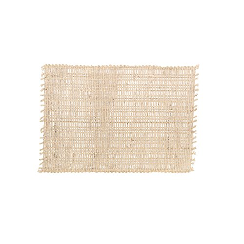 Eyelet Loom Natural Abaca Fibers Kitchen or Dining Room Placemats Set of 4