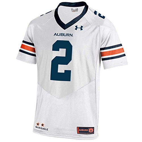 Under Armour NCAA Auburn Tigers FG172134B63 Childrens Official Sideline Jersey, Medium, White