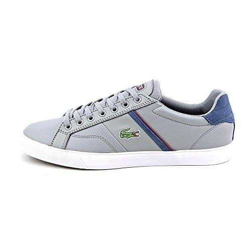 Lacoste Herenschoenen Fairlead Col Grijsblauwe Leren Sneakers