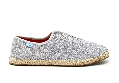 TOMS GREY TRIBAL WOMENS PALMERA SLIP-ONS (6.5 M) uYClhJy