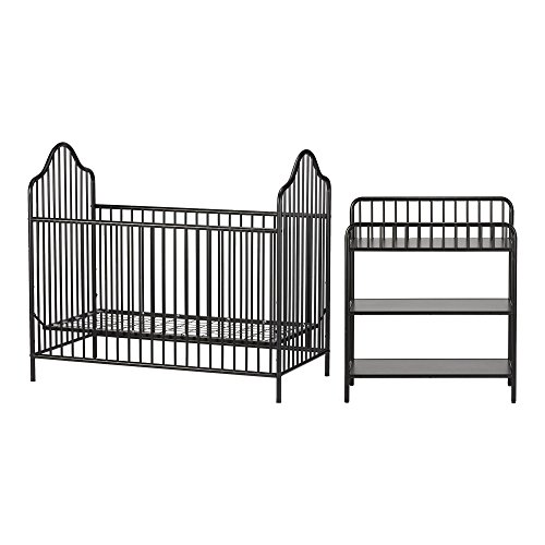 Metal Painted Daybed (Little Seeds Rowan Valley Lanley Metal Crib and Changing Table Set, Black)