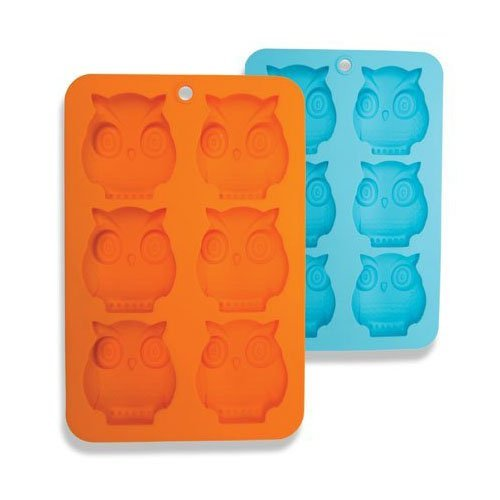 DCI Silicone Soap Molds 6-Cavity Owl Shaped Molds Soap Bars Ice Cube Tray Candy Baking Muffin Cupcake Cookie Bread Pan Nonstick Food Grade Silicone 2 Pack -