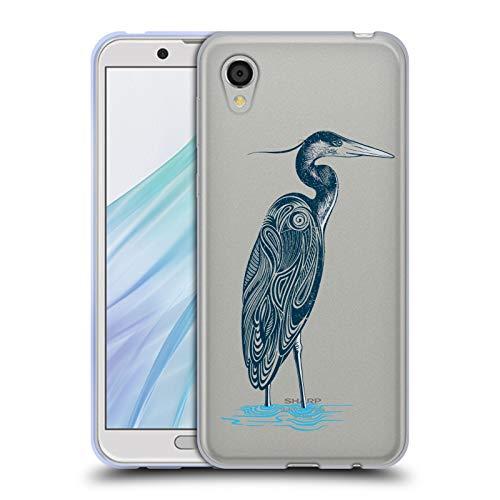Case Blue Heron - Official Rachel Caldwell Blue Heron Animals 4 Soft Gel Case Compatible for Sharp Aquos Sense2 SHV43