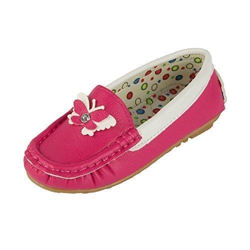Eva Moda - Mocasines de Material Sintético para niña , color Rosa, talla 30 EU Niño: Amazon.es: Zapatos y complementos