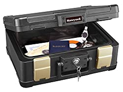 Honeywell 30 Minute Fire Safe Waterproof Safe Box Chest with Carry Handle, Medium, 1103