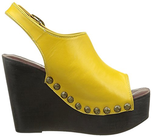 Zeppa Donna Sandalo Jeffrey Campbell Giallo Snick HwqItInB