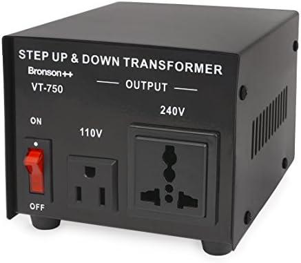 Bronson++ VT 750 - Transformador Elevador/Reductor de Voltaje de 750 Vatios EE.UU.: Amazon.es: Electrónica