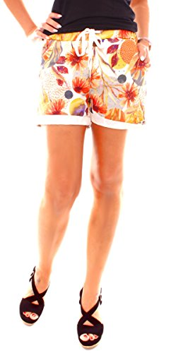 Easy Young Fashion - Pantaloncini - Donna Arancione-giallo