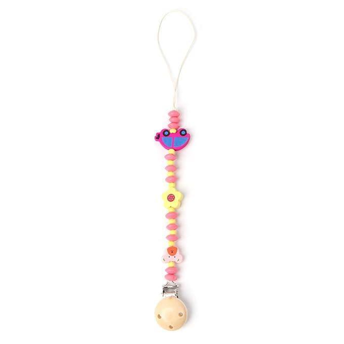 Amazon.com: Kimnny - Cadena para chupete de bebé, clip de ...
