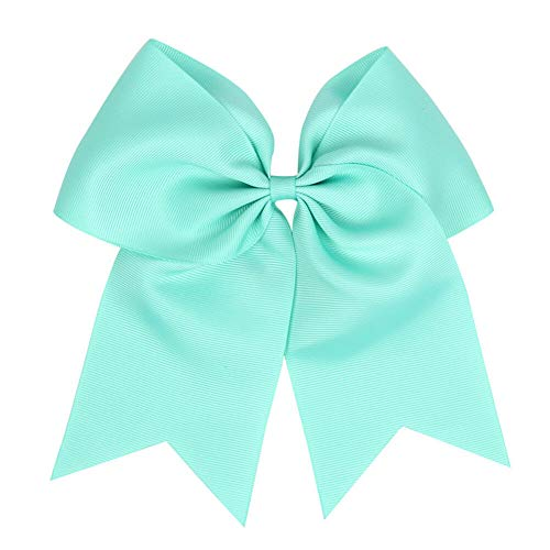 Baby 8 Elastic Lovely Big Ribbon Bowknot Hair Rope Hair Bow Hair Band Accessory (Color - turquoise blue) ()