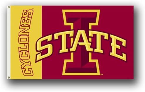 Iowa State Cyclones Deluxe Grommet Flag NCAA Licensed 3/' x 5/'