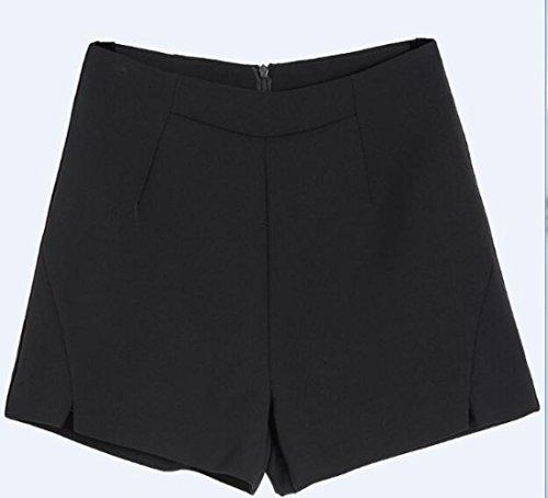 Pantalones Ancha Verano Negro Cintura Flojos La Pierna De Palabra Tamaño Momo Una Del Cortos Sueltos Gran A dfRwgdWFqP