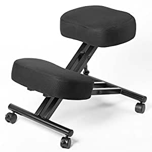 Ergonomic Kneeling Chair, Adjustable Stool (Double Thick Mesh Fabric) for Home, Office, and Meditation