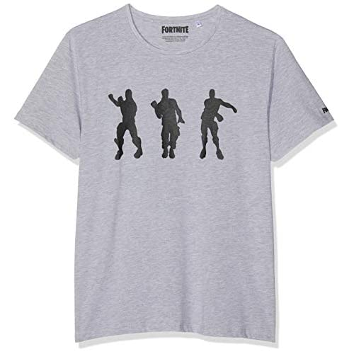 41XIJ2t8MHL. SS500 Fortnite Floss Dance Gris camiseta Camiseta de 100% algodón con etiqueta oficial Fortnite 60% Algodón, 40% Poliéster