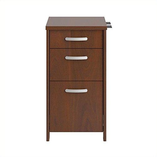 Bush PR76580 Envoy Series Three-Drawer Pedestal, 16w x 20d x 30 1/4h, Hansen Cherry by Bush Furniture