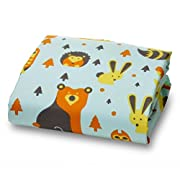 Woodland Creature Fox and Owl Fitted Crib Sheet for Standard 52 Inch Mattress
