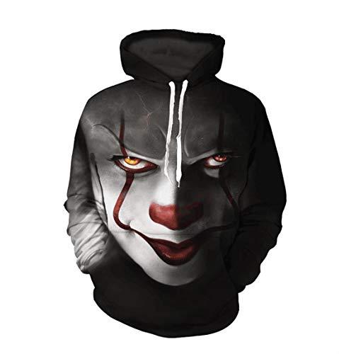 Hoodies Unisexe Hommes Capuche Grosse Manche Longue Imprimer Avec À Vêtements Homme Pull Pour Poche 3d Sport Couples De Clown Sweatshirt Sweat THxqw4w