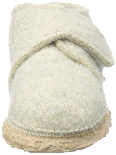 Nanga Leila - Zapatos de primeros pasos de lana bebé - unisex, color rojo, talla 24