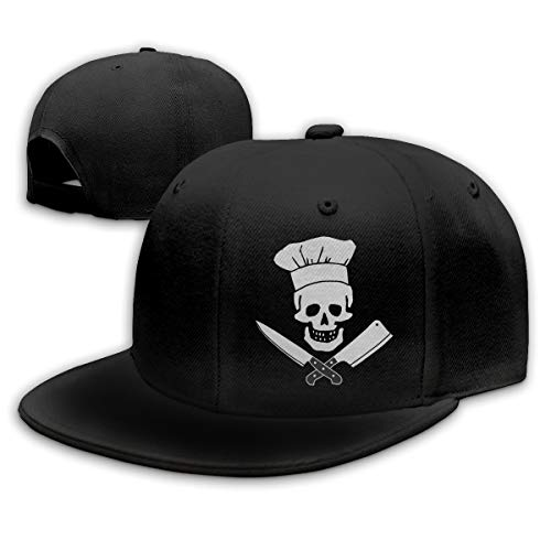 (Waldeal Skull-Chef Cooking Skull Vintage Unisex Fashion Cotton Denim Baseball Cap)