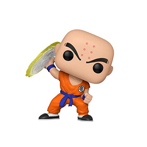Funko- Pop Animation Dragon Ball Z-Krillin w/Destructo Disc Collectible Toy, Multicolor (44263)