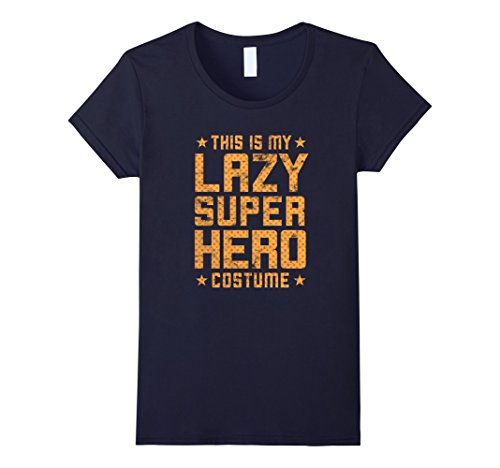 Ideas Costumes Superheroes Female (Womens Lazy Super Hero Costume - Easy Halloween Costume Shirt Medium)