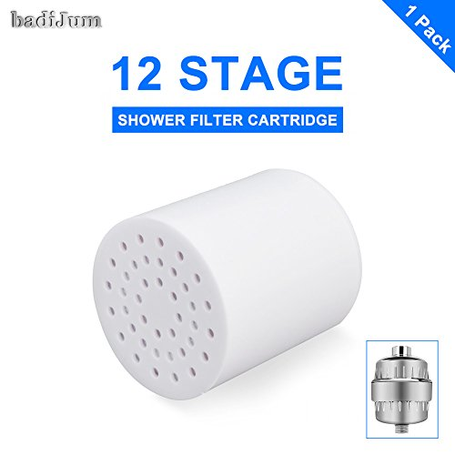 Great Features Of 12 Stages Shower Filter Cartridge Replacement, badiJum High Output Universal Showe...