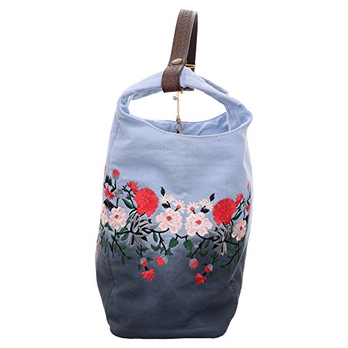 Anokhi Baccara | Beutelbag - Blau | Flower Ombre Blau